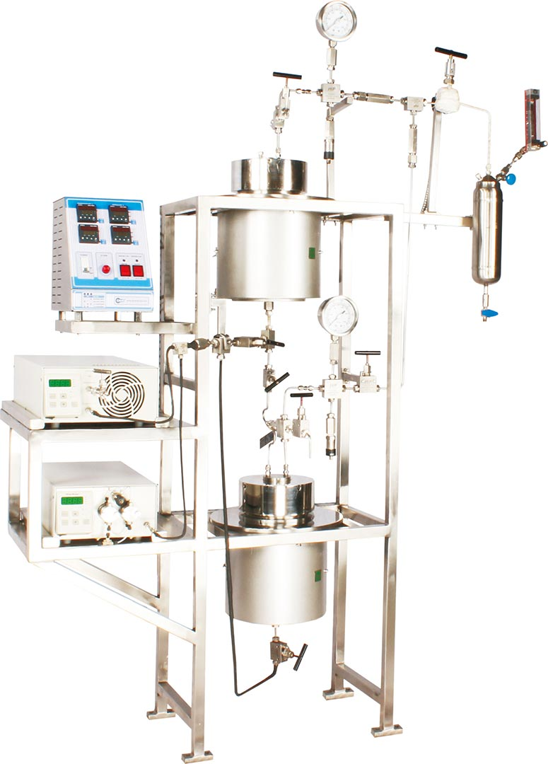 1 ltr extraction vessels in series & parallel for 700 bar pressure with CO2 pump for extraction of natural products