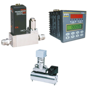 Thermal gas mass flow meter controller